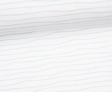 Jersey - Bio Qualität - Kombistoff - Wal Liebe und Möwe Fred - Streifen - weiß - Treeebird - abby and me
