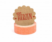 1 Rolle Stoffklebeband zum Aufbügeln - Nuno Deco - Tape - Uni - Orange