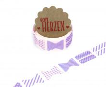 32 Stoffaufkleber - Stoffklebeband zum Aufbügeln - Schleifen - Fabric Label - Lila