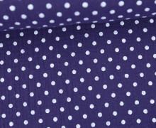 Musselin - Muslin - Punkte - Dots - 5mm - Vintage - Double Gauze - Dunkellila