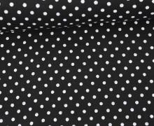 Musselin - Muslin - Punkte - Dots - 5mm - Vintage - Double Gauze - Schwarz