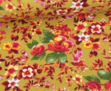 Leichter Kuschelsweat - Blümchen - Springtime - Gelbgrün