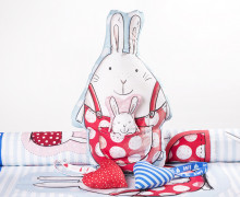Kissenstoff - DIY - Big Love - Hasenpapa  - Ostern - formenfroh - abby and me