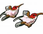 1 Aufnäher - Kolibri - Vogel - Strasssteine - Schwarz