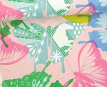 Stoff - Schmetterlinge - Abstrakt - Flutter - Melody Miller - Rosa