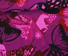 Rayon - Blusenstoff - Schmetterlinge - Abstrakt - Flutter - Melody Miller - Violett