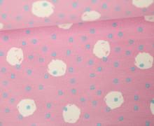Jersey - Dots - Kinderträume - Little Darling - Rosa