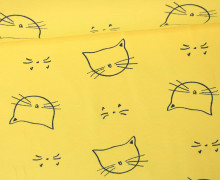 Jersey - Katzengesichter - Kinderträume - Sonnengelb