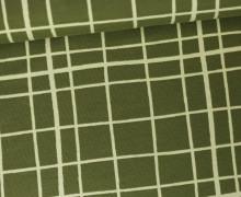Jersey - Karomuster - Little Darling - Armygrün