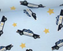 Jersey - Polizeiauto - Sterne - Police - Fahrzeuge - Babyblau