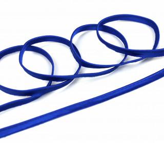 1 Meter Seiden - Paspelband/Biesenband - Uni - 10mm - Royalblau