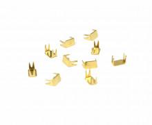 10 Endstücke für Reißverschlüsse - Metall - 3mm - Gold