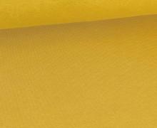 Glattes Bündchen - Uni - Schlauchware - Senfgelb