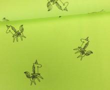 Jersey - Neon Unicorn - Einhörner - Neongelb meliert