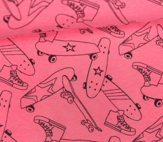 Jersey - Neon Skateboards - Shoes - Neonpink meliert