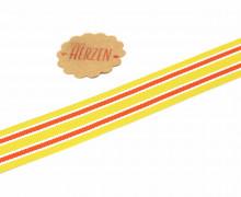 1 Meter Ripsband - Köperband - Crimsey - Streifen - 25mm - Gelb