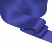 1m Satinband - Zierband - Double Face - Satin Luxe - 50mm - Blau