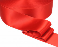 1m Satinband - Zierband - Double Face - Satin Luxe - 50mm - Rot