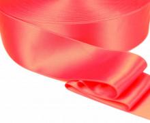 1m Satinband - Zierband - Double Face - Satin Luxe - 40mm - Neonpink/Orange