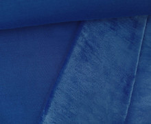 Alpenfleece - Uni - Kuschelstoff - Blau