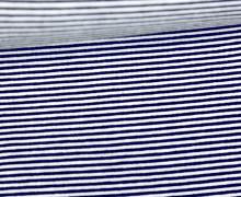 Viskose Jersey - Streifen - 1mm - Schwarzblau/Weiß