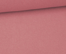Canvas Stoff - feste Baumwolle - Uni - 145cm - Altrosa dunkel
