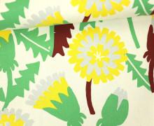 Feste Baumwolle - Blumen - Grafisch - Tréfle - Kokka - Naturweiß