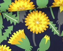 Feste Baumwolle - Blumen - Grafisch - Tréfle - Kokka - Nachtblau
