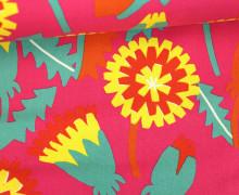 Feste Baumwolle - Blumen - Grafisch - Tréfle - Kokka - Pink