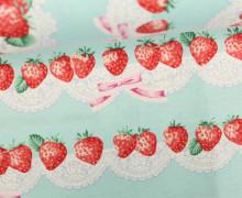 Feste Baumwolle - Erdbeeren - Sweet Party - Tréfle - Kokka - Mint