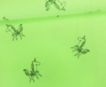 Jersey - Neon Unicorn - Einhörner - Neongrün Meliert