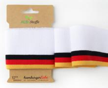 Bio-Bündchen - College - WM - Cuff Me - Hamburger Liebe - Weiß