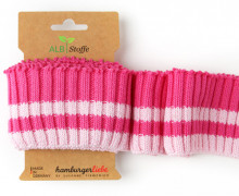 Bio-Bündchen - Cozy  Stripes - This Summer - Cuff Me - Hamburger Liebe - Pink