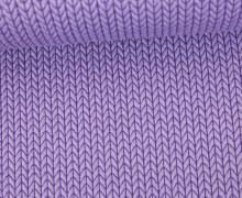 Bio-Jacquard - 3D - Big Knit - This Summer - Hamburger Liebe - Lavendel
