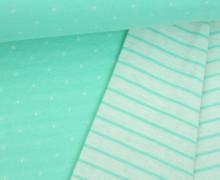 Bio-Jacquard - Double Dots - Doubleface - Streifen - Punkte - This Summer - Hamburger Liebe - Mint