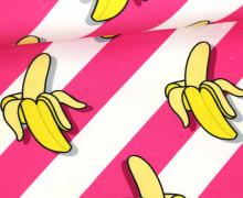 Sweat - We´re Going Bananas! - This Summer - Banane - Hamburger Liebe - Weiß/Pink