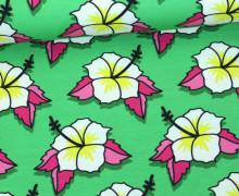 Sweat - Flower Power - This Summer - Hibiskus - Hamburger Liebe - Grün