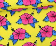 Jersey - Flower Power - This Summer - Hibiskus - Hamburger Liebe - Gelb