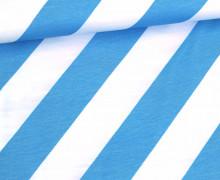 Jersey - Stripemania - This Summer - Streifen - Hamburger Liebe - Weiß/Hellblau