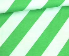Jersey - Stripemania - This Summer - Streifen - Hamburger Liebe - Weiß/Grün