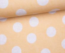 Jersey - GOTS - Kombistoff - Little Deer - Punkte - gelb - zart meliert - abby and me