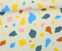Feste Baumwolle - Dekostoff - Flecken - Spots - Creme