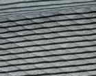 Steppstoff - Double Face - Streifen - Rauten - Grau/Schwarz