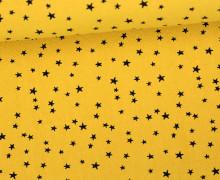 Fester Baumwollstoff - Hochwertig - Stars - Sterne - Summer Love - Senfgelb