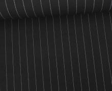 Fashionstoff - Blusenstoff - Nadelstreifen - 15mm - Schwarz