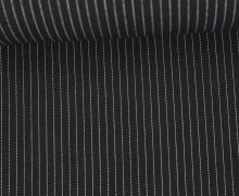 Fashionstoff - Blusenstoff - Nadelstreifen - 5mm - Schwarz