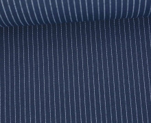 Fashionstoff - Blusenstoff - Nadelstreifen - 5mm - Nachtblau