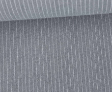 Fashionstoff - Blusenstoff - Nadelstreifen - 5mm - Grau