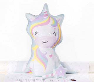 Kissenstoff - DIY - Miss Unicorn und Zauberstab - mimirella - abby and me