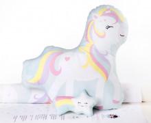 Kissenstoff - DIY - Miss Unicorn und Sternschnuppe - mimirella - abby and me